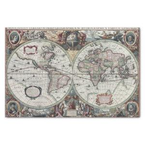 Old World Map 1630 Tissue Paper