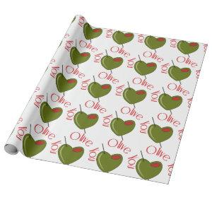 Olive You Wrapping Paper