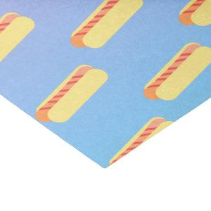 Ombre Pastel Hot Dogs Tissue Paper