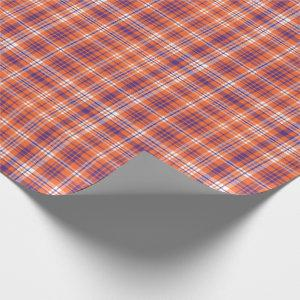 Orange and Purple plaid wrapping paper
