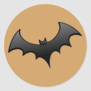 Orange Bat Sticker