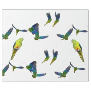 Orange Bellied Parrot Wrapping Paper