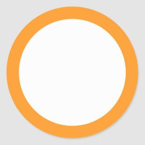 Orange border blank classic round sticker
