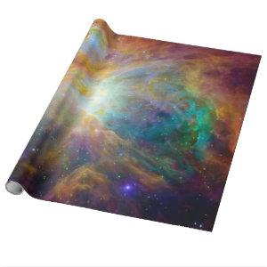 Orange Orion Nebula Hubble Astronomy Space Wrapping Paper