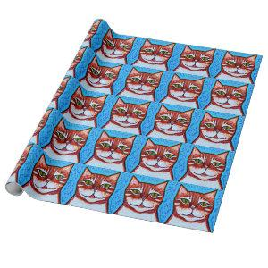 Orange Tabby Cat Gift Wrapping Paper