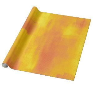Orange Yellow Modern Abstract Wrapping Paper