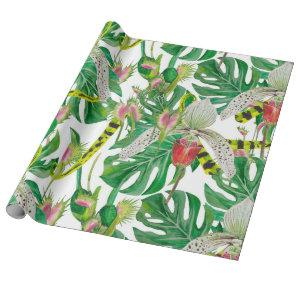 Orchids & Floral Wrapping Paper