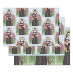 Original Crazy Cat Lady Gertrude Patron St of Cats Wrapping Paper Sheets