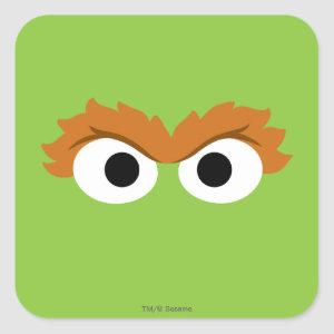 Oscar the Grouch Big Face Square Sticker