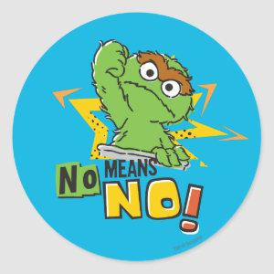 Oscar the Grouch Comic Classic Round Sticker