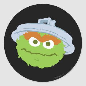 Oscar the Grouch Face Classic Round Sticker