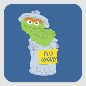 Oscar the Grouch Graphic Square Sticker