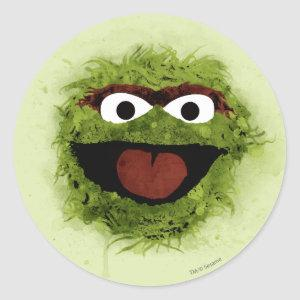 Oscar the Grouch | Watercolor Trend Classic Round Sticker