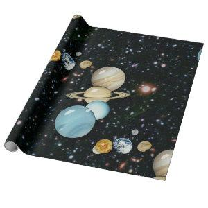 Our Solar System Wrapping Paper