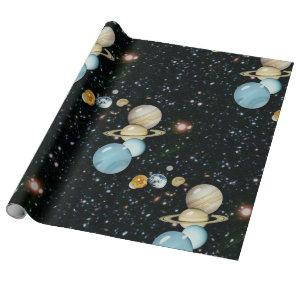 Our Solar Sysytem Wrapping Paper