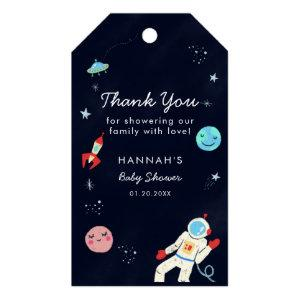 Outer Space Baby Shower Boy Gift Tags