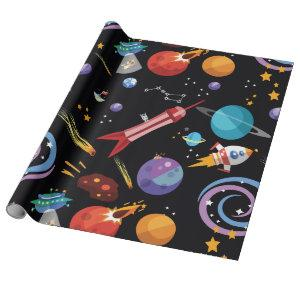 Outer Space Wrapping Paper