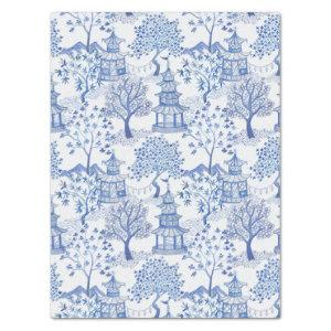 pagoda forest in blue tissue paper