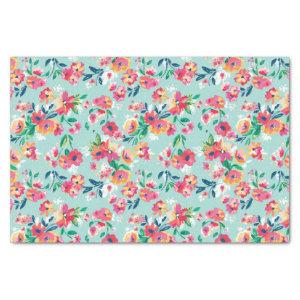 Painted Flowers Pattern Tissue Paper