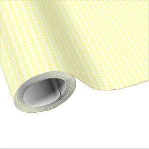 Pale Yellow Gingham Wrapping Paper