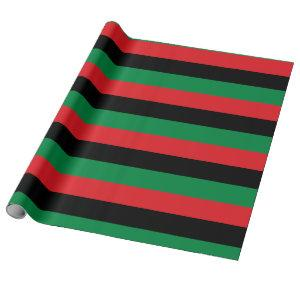 Pan African Flag, Happy Kwanzaa Wrapping Paper