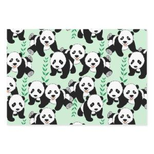Panda Bears Graphic Wrapping Paper Sheets