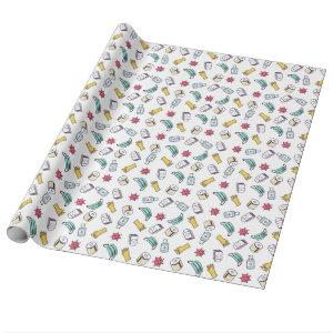 Pandemic Pattern Wrapping Paper