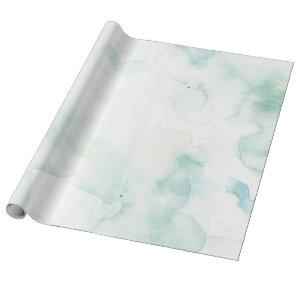 Pastel Blue and Green Watercolor Wrapping Paper