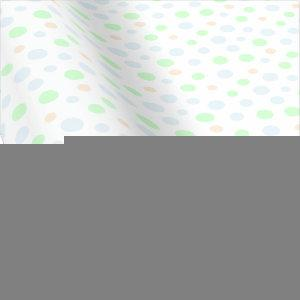 Pastel Blue, Green and Orange Dots Wrapping Paper