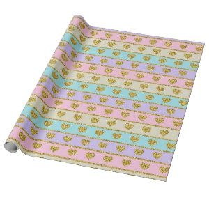 Pastel Hearts Wrapping Paper