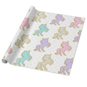 Pastel Unicorn Wrapping Paper