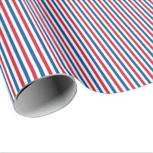 Patriotic Red White and Blue Stripes