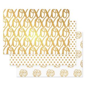 Pattern Gold Foil Wrapping Paper Sheets