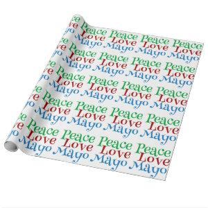 Peace Love Mayonnaise Funny Mayo Wrapping Paper