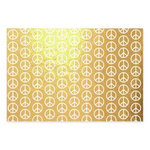 Peace Sign Foil Wrapping Paper Set