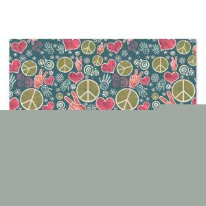 Peace Symbol Hipster Pacifism Sign Design Wrapping Paper Sheets