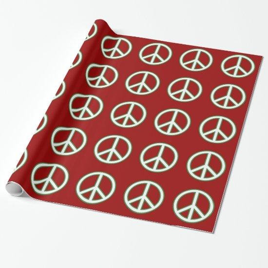 Peace Symbol Sign Pattern Wrapping Paper