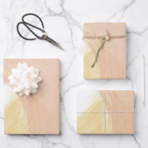Peach Strokes Wrapping Paper Sheets