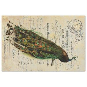 Peacock 18lb Decoupage Sheet Right
