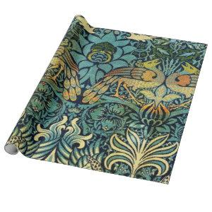 Peacock And Dragon William Morris Wrapping Paper
