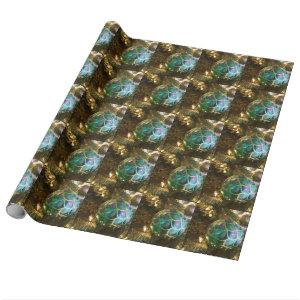 Peacock Christmas Wrapping Paper