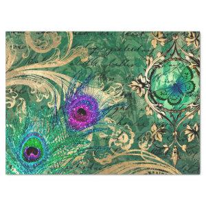Peacock Feathers and Butterfly Decoupage Tissue Paper