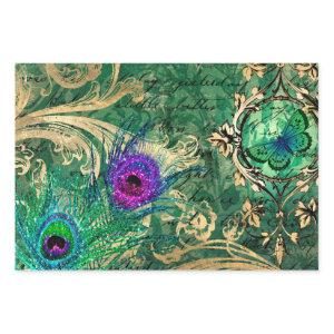 Peacock Feathers and Butterfly Wrapping Paper Sheets