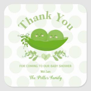 Peas in a Pod Baby Shower Thank You Sticker Labels