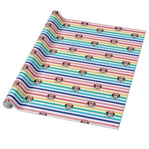Peekaboo Rainbow Minnie Mouse Pattern Wrapping Paper