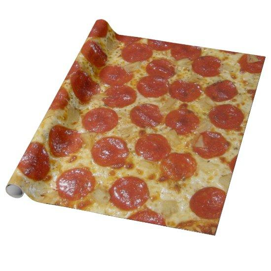 Pepperoni Pizza Wrapping Paper