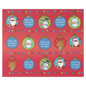 Personalize African American Santa and Friends Wrapping Paper
