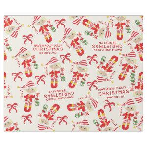 Personalize Blonde Girl Elf Wrapping Paper