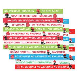 Personalize Do not open till Christmas Cranky Cat  Sheets
