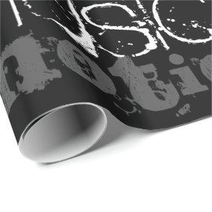 Personalize Inspiration Black and White Gift Wrap